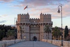 Puerta de Serranos Fotos de archivo