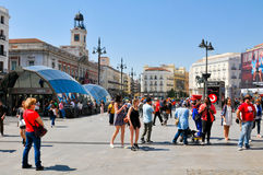 Puerta de Sol στη Μαδρίτη, Ισπανία Στοκ Φωτογραφία