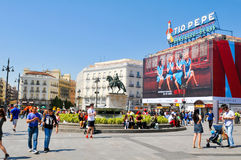 Puerta de Sol στη Μαδρίτη, Ισπανία Στοκ φωτογραφία με δικαίωμα ελεύθερης χρήσης