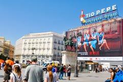 Puerta de Sol στη Μαδρίτη, Ισπανία Στοκ Εικόνα