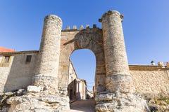 Puerta de Sollera entrance gate in Retortillo de Soria town. Province of Soria, Spain Royalty Free Stock Photos