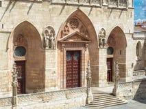 Puerta de St Mary - Burgos Fotografía de archivo libre de regalías