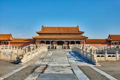 Puerta de Taihemen de Harmony Imperial Palace Forbidden City suprema Imagen de archivo