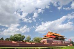 Puerta de Tian-An-Men, Pekín Foto de archivo libre de regalías