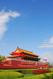 Puerta de Tiananmen imagenes de archivo