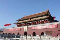 Puerta de Tiananmen de China Fotos de archivo libres de regalías