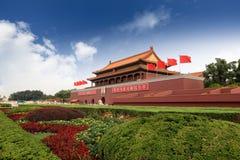 Puerta de Tiananmen en Pekín Fotografía de archivo libre de regalías