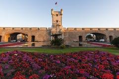 Puerta DE Tierra in Cadiz stock foto's