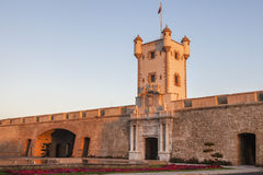Puerta DE Tierra in Cadiz royalty-vrije stock afbeelding