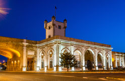 Puerta de Tierra, a city gate in Cadiz, Spain Stock Photos