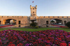 Puerta de Tierra i Cadiz arkivfoton