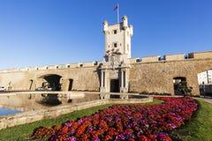 Puerta de Tierra i Cadiz royaltyfria bilder