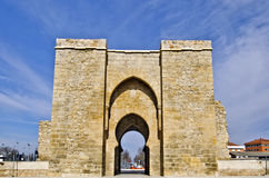 Puerta de Toledo Gate in Ciudad Real. Relicts of Arab History of 14th century, Castile La Mancha, Spain Royalty Free Stock Image