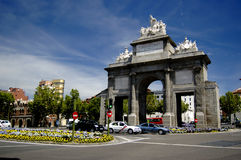 Puerta De Toledo, Madrid Stockfotos