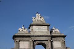 Puerta de Toledo, Madrid, Spain Imagem de Stock Royalty Free