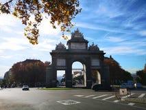 Puerta DE Toledo, Madrid, Spanje stock afbeelding