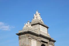 Puerta de Toledo - portone di Toldeo, Madrid, Spagna Immagini Stock