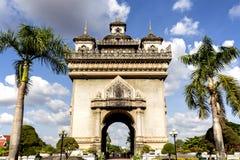 Puerta de Triumph en Vientián, Laos Fotografía de archivo
