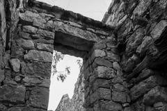 Puerta de Wari Willka o Warivilca - Junin - Perú imagen de archivo