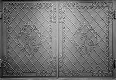Puerta decorativa del metal Imágenes de archivo libres de regalías
