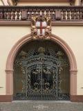 Puerta decorativa en Freiburg Imágenes de archivo libres de regalías