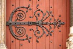 Puerta decorativa forjada Fotografía de archivo libre de regalías