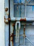 Puerta del acero de la textura Fotos de archivo libres de regalías