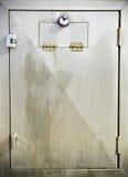Puerta del acero inoxidable Imágenes de archivo libres de regalías