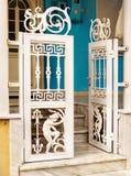 Puerta del adorno del griego clásico Fotografía de archivo