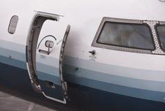 Puerta del aeroplano Imagen de archivo libre de regalías