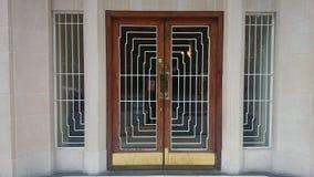 Puerta del art déco Fotografía de archivo libre de regalías