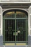 Puerta del art déco en Buenos Aires Foto de archivo