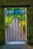 Puerta del arte en jardín del parque de Marlay Imagen de archivo