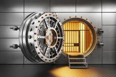 Puerta del banco de la cámara acorazada en trastero