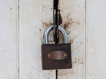 Puerta del blanco del bloqueo de teclas de Mater Foto de archivo libre de regalías
