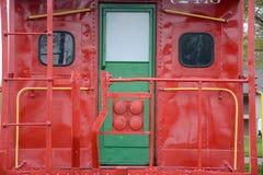Puerta del Caboose Imagen de archivo libre de regalías