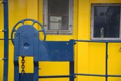 Puerta del Caboose foto de archivo