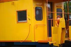 Puerta del Caboose fotos de archivo libres de regalías