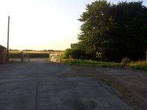 Puerta del carril del país Fotografía de archivo