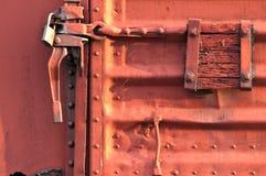 Puerta del carro de carril Foto de archivo