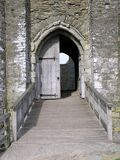 Puerta del castillo Imagen de archivo