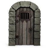 Puerta del castillo. Imagen de archivo libre de regalías