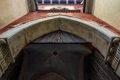 Puerta del castillo de Vigevano imagen de archivo