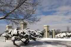 Puerta del cementerio Fotografía de archivo