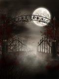 Puerta del cementerio ilustración del vector