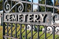 Puerta del cementerio Imágenes de archivo libres de regalías