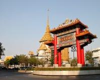 Puerta del chino de Bangkok Fotos de archivo libres de regalías