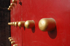 Puerta del chino tradicional Imagen de archivo