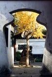 Puerta del chino tradicional Fotografía de archivo