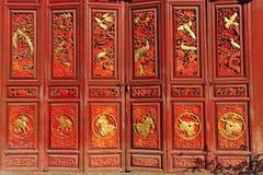 Puerta del chino tradicional Fotos de archivo